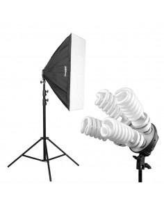 Lampa SOFTBOX 60x60 4x65W 802
