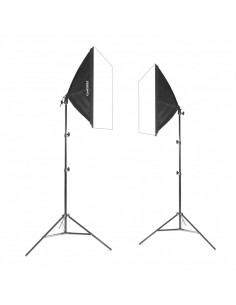 2x lampa SOFTBOX 50x50 85W 801