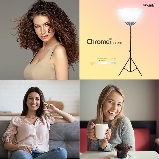 Chrome Lantern Softboks kulisty sferyczny