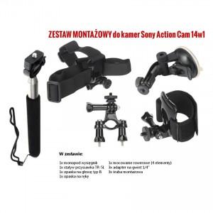 14w1 Zestaw montażowy do kamer sportowych (Sony Action Cam)