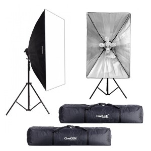 Zestaw 2 lamp światła stałego SOFTBOX 60x90 10x65W 290cm + 2x torba