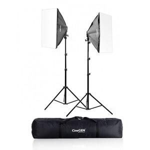 Zestaw 2 lamp światła stałego SOFTBOX 50x70cm 85W 290cm + torba