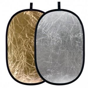 Blenda owalna, srebrno-złota, 60x90cm