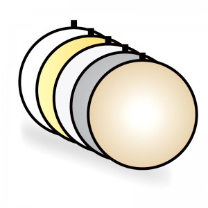 Blenda okrągła 5w1, 80cm, marki CineGEN® (Gold+Sunfire)