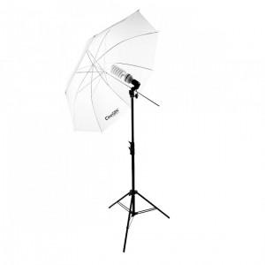 Lampa światła stałego 85W z parasolką SOFTLIGHT 84cm
