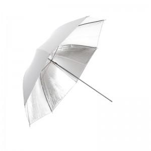 Parasolka biała, reflektor srebrny 84cm