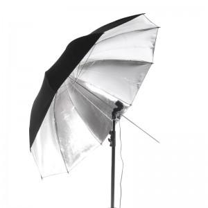 Parasolka jednowarstwowa, reflektor srebrny 84cm