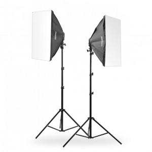 Zestaw 2 lamp światła stałego SOFTBOX 60x60cm 85W 290cm