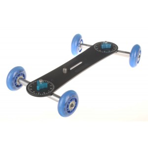 Długi wózek kamerowy WROTKA, jeździk dolly (niebieski) CG-206B
