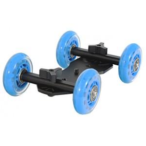 Wózek kamerowy WROTKA, jeździk dolly (niebieski) CG-205B