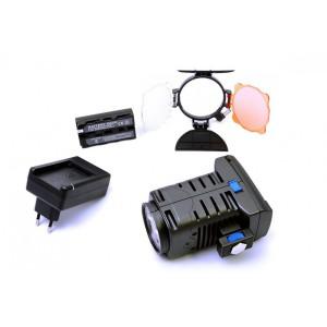 Lampa LED-5005 wraz z baterią i ładowarką (komplet)