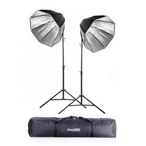 Zestaw 2 lamp światła stałego SOFTBOX octa 60cm 65W 230cm + torba