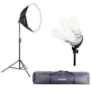 Lampa światła stałego SOFTBOX octa 80cm 4x 85W 230cm + torba