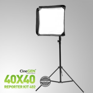 Zestaw reporterski ReporterKit 402 - softbox ze statywem