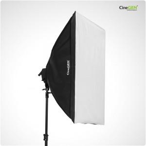 Softbox 80x120cm - oprawa oświetleniowa na 5 żarówek