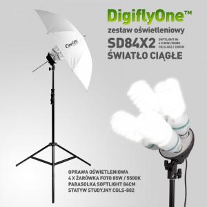 Zestaw światła stałego SOFTLIGHT 84cm 4x85W 230cm