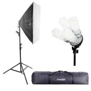 Lampa światła stałego SOFTBOX 60X90 4x 85W 290cm + torba