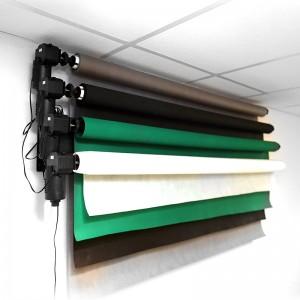 Elektryczny system wieszania teł fotograficznych (na 4 tła)