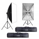 Zestaw 2 lamp światła stałego SOFTBOX 80x120 10x65W 290cm + 2x torba