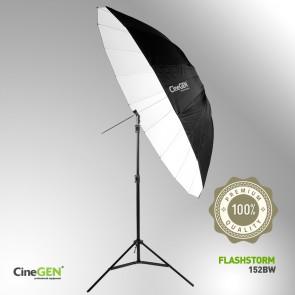 Zestaw oświetleniowy z parasolką białą 150cm