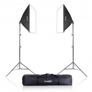 Zestaw 2 lamp światła stałego SOFTBOX 40x40cm 65W 230cm + torba