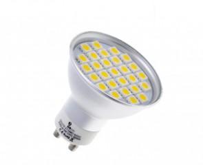 Żarówka GU10 27 LED 5050 SMD CIEPŁA 4W=45W SPOTLIGHT