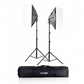Zestaw 2 lamp światła stałego SOFTBOX 60x60cm 65W 230cm + torba