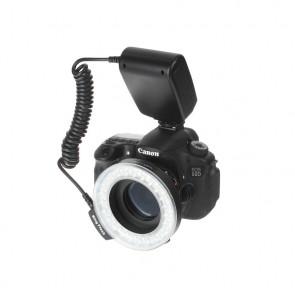 Lampa pierścieniowa błyskowa 2w1 makro LCD do Sony/Minolta