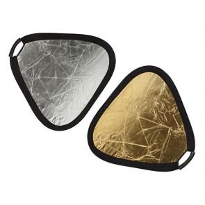 Blenda trójkątna 2w1, srebrno-zota, 60 cm