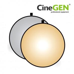 Blenda okrągła, srebrno-złota, 110cm