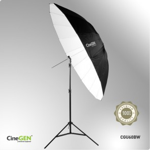 Parasolka fotograficzna, reflektor, deflektor, CineGEN CGU60BW