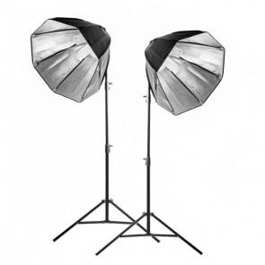 Zestaw 2 lamp światła stałego SOFTBOX octa 70cm 85W 230cm