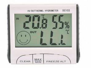 Stacja pogody + sonda przewodowa, termometr i higrometr