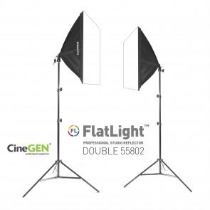 Zestaw 2 lamp światła stałego SOFTBOX 50x50cm