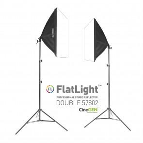 Zestaw 2 lamp światła stałego SOFTBOX 50x70cm 85W 220cm