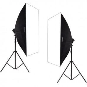 Zestaw 2 lamp światła stałego SOFTBOX 60x90 10x65W 290cm