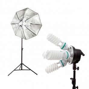 Lampa światła stałego SOFTBOX octa  90cm 5x65W 290cm