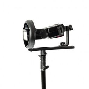 Uchwyt mocowanie BOWENS T do lamp systemowych z zamocowaną lampą systemową