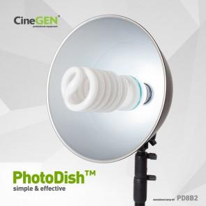 Lampa 85W foto z reflektorem i statywem, PhotoDish™ PD8B2