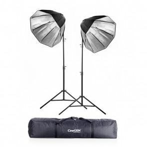 Zestaw 2 lamp światła stałego SOFTBOX octa 70cm 65W 230cm + torba