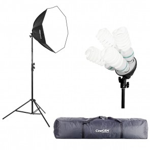 Lampa światła stałego SOFTBOX octa 60cm 4x 85W 290cm + torba