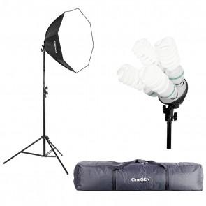 Lampa światła stałego SOFTBOX octa 80cm 4x 65W 230cm + torba