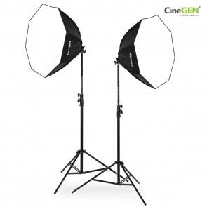Zestaw 2 lamp światła stałego SOFTBOX octa 90cm 65W 230cm