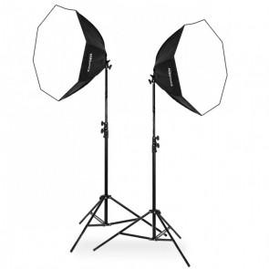 Zestaw 2 lamp światła stałego SOFTBOX octa 90cm 125W 230cm