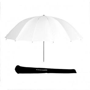 Parasolka fotograficzna, dyfuzor, CineGEN  CGU60SOFTLIGHT (czasza rozłożona, poniżej pokrowiec ochronny)