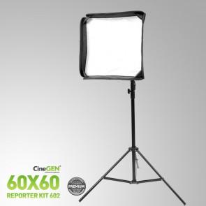 Zestaw reporterski ReporterKit 602 - softbox ze statywem