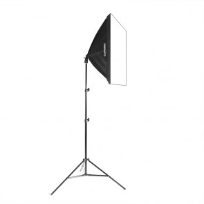ampa światła ciągłego typu SOFTBOX, Single 50x70cm, 85W, 230cm