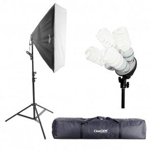 Lampa światła stałego SOFTBOX 60X60 4x 65W 230cm + torba