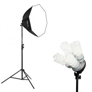 Lampa światła stałego SOFTBOX octa 80cm 4x 85W 290cm