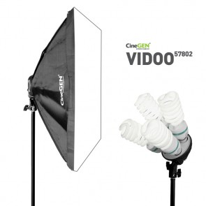 Lampa światła stałego SOFTBOX 50x70cm 4x 85W 230cm